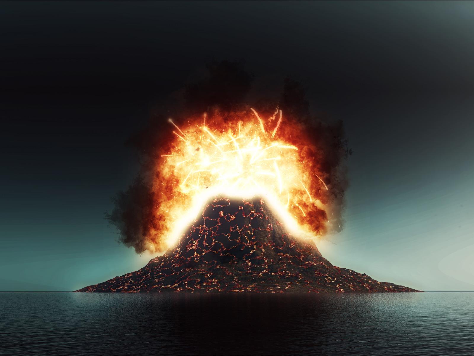 Yanardağ patlama